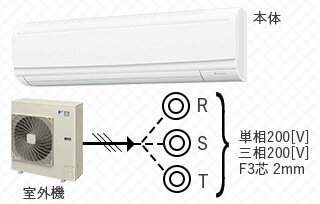 壁掛型エアコン-3馬力