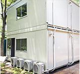 ユニットハウスへの取付例-01